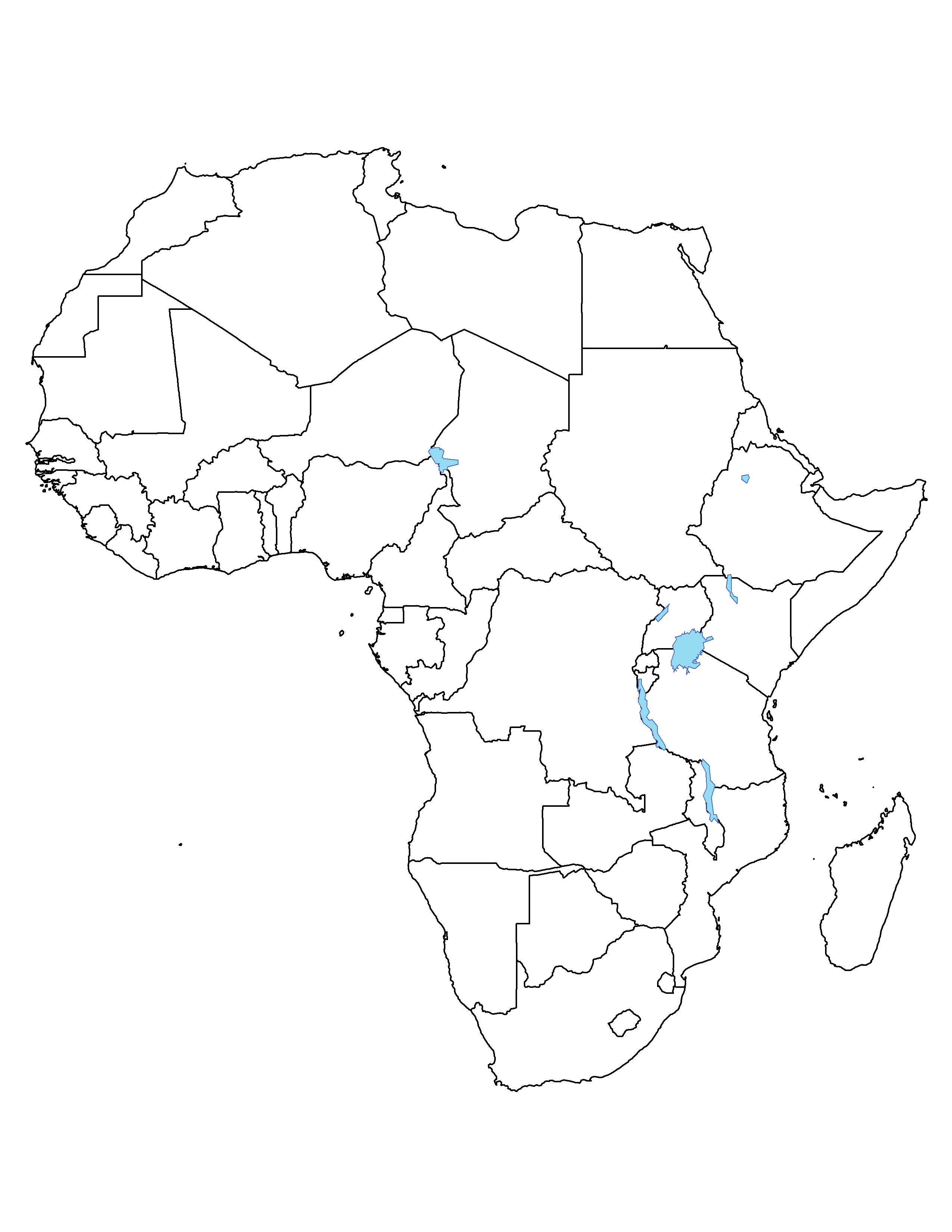 blank map of africa quiz